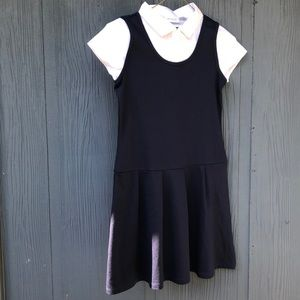 The Children's Place Girl Navy Dress L (10-12)